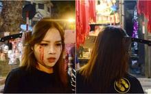 Hà Nội: Nhiều người hốt hoảng với cảnh tượng dao cắm xuyên đầu cô gái trẻ trong đêm Halloween trên phố Hàng Mã