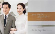 Hé lộ thiệp cưới giản dị của cặp đôi Hoa hậu Đặng Thu Thảo và doanh nhân Trung Tín