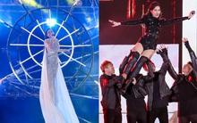 Hồ Ngọc Hà treo mình trên cao như nữ thần, Đông Nhi tự lái siêu xe lên sân khấu trình diễn