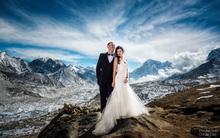 Sau 3 tuần leo núi, cặp đôi kết hôn trên đỉnh Everest và những bức ảnh cưới của họ thật tuyệt