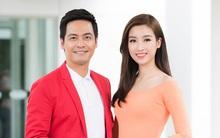 Hoa hậu Mỹ Linh diện áo dài, hội ngộ MC Phan Anh tại sự kiện