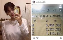 Hwang Hana bị chỉ trích thậm tệ vì khoe việc chuyển cho Yoochun hơn trăm triệu làm quà sinh nhật