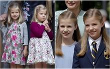2 nàng Công chúa nhỏ đáng yêu của Hoàng gia Tây Ban Nha ngày ấy giờ đã xinh xắn lắm rồi