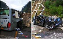 """Những hình ảnh kinh hoàng ở """"thiên đường hạ giới"""" Cửu Trại Câu sau vụ động đất 7 độ Richter"""