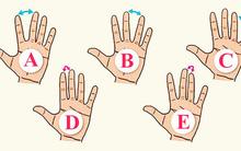 Đo khoảng cách giữa các ngón tay để khám phá tính nết của một người