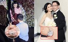 """Yêu đại gia, nhẫn cưới của sao Cbiz """"có giá"""" hơn hẳn: Phạm Băng Băng đeo nhẫn 19 carat 17 tỷ, chỉ là """"muỗi"""" so với nhẫn 8 carat giá 170 tỷ của cặp đôi này"""