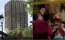 Hình ảnh bé gái 4 tuổi được người đi đường bắt trúng sau khi được mẹ ném từ tòa tháp đang cháy ở London