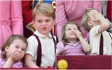 Công chúa nhỏ tựa vai, bắt chước hành động siêu đáng yêu của anh trai trong lễ mừng sinh nhật Nữ hoàng Anh