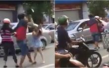 Nam thanh niên dùng mũ bảo hiểm đánh vào đầu cô gái sau va chạm giao thông