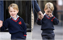 Cũng giống như bao em bé khác, đây là 2 tâm trạng khác biệt của Hoàng tử bé nước Anh trước và sau khi đến trường