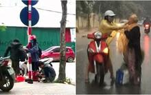 Những mẩu chuyện về tình người trong cuộc sống được kể lại từ chiếc áo ấm, áo mưa trên đường phố