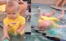 Bị chỉ trích thậm tệ vì thả con nhỏ tự nổi dưới nước, bà mẹ chia sẻ lí do vô cùng đau lòng