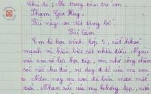 Bài văn tả mẹ nhưng lại ra bố của bé lớp 5 khiến ai cũng nghẹn ngào