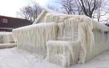 """""""Nhà băng"""" mọc giữa New York trong mùa đông giá lạnh"""