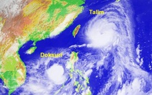 """Trung Quốc lo lắng trước """"siêu bão kép"""" Talim và Doksuri mạnh chưa từng có"""