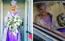 """Nhan sắc xinh đẹp rạng rỡ của cô dâu 86 tuổi trong chiếc váy cưới tự thiết kế làm dân tình """"phát hờn"""""""