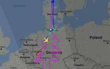 Airbus dành 5 tiếng để vẽ hình cây thông Noel trên bản đồ châu Âu bằng máy bay A380