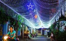 Trái với sự nhộn nhịp ở trung tâm, có một Sài Gòn yên bình và lung linh như thế trong đêm Giáng sinh