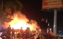 Khánh Hòa: Đang cháy lớn ở khu vực gần cầu Trần Phú