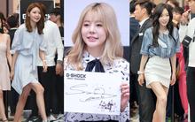 Sunny mặt cứng như tượng sáp, Taeyeon và Sooyoung lộ chân gầy guộc tại sự kiện
