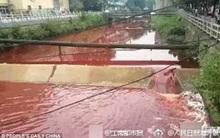 Dòng sông ở Trung Quốc chuyển màu máu như trong phim kinh dị
