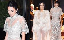 Kendall lộng lẫy như công chúa, Kim diện đồ xuyên thấu sexy cũng bị lu mờ