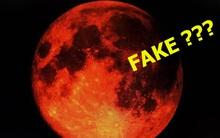 """Sự thật về những bức hình """"trăng máu"""" được cho là của hiện tượng nguyệt thực 1 phần tối qua"""
