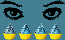 Không mù màu thì mới phân biệt được những chiếc bánh cupcake rực rỡ