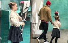 Chỉ là đi mua hoa thôi mà, bố con Beckham - Harper có cần đáng yêu lạc lối thế không!