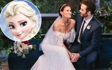 """Nữ hoàng Elsa của phim """"Frozen"""" diện váy cưới xinh đẹp lộng lẫy trong ngày tái hôn"""
