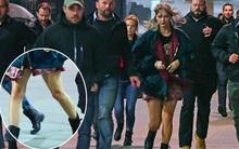 Taylor Swift mình dây ngày nào giờ lộ cặp đùi to, béo lên thấy rõ trên trường quay MV mới