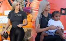 """""""Nữ hoàng thị phi"""" Kim Kardashian kín đáo, xinh đẹp bất ngờ, ra dáng mẹ hiền bên 2 con nhỏ đáng yêu"""