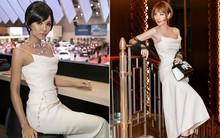 """Tóc đều ngắn và váy đều đẹp, thế nhưng H'Hen Niê lại kém hẳn Angela Phương Trinh khi """"đụng hàng"""""""