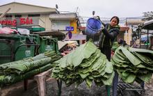 Chợ lá dong lâu năm nhộn nhịp giữa lòng Hà Nội những ngày cận Tết