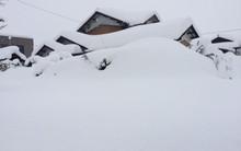 Nhật Bản run rẩy chìm trong tuyết trắng, không thể ra đường vì băng tuyết chắn cửa