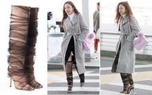 """Goo Hara lên đường tham dự tuần lễ thời trang Milan, nhưng đôi giày nhìn như """"cây giò lụa"""" của cô nàng mới là trung tâm bàn tán"""