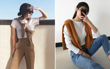 Áo len giờ còn được biến tấu thành khăn quàng hay buộc thành túi đeo chéo nhìn cực chất, bạn có dám thử?