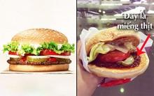 """Xem sự khác biệt giữa quảng cáo và thực tế của burger ở Việt Nam để thấy đúng là """"đời không như mơ"""""""