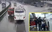 Xe khách tông xe cứu hỏa trên cao tốc Pháp Vân – Cầu Giẽ đi đúng tốc độ cho phép
