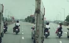 Nghệ An: Nhóm thanh niên rước dâu đầu trần, dàn hàng ngang trên quốc lộ gây cản trở giao thông