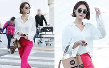 """Bao năm rồi mỹ nhân """"She was pretty"""" Go Jun Hee vẫn gây sốt vì đẹp đẳng cấp và sang chảnh khó tin tại sân bay"""