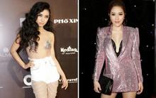"""VIFW 2018: Tiêu Châu Như Quỳnh gây sốc với bộ cánh bán nude rối rắm, Bảo Thy lộ mặt """"cứng đờ"""" khác lạ"""