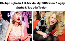 """Fanpage nhạc USUK gây bức xúc khi """"câu fame"""" bằng ảnh nhạo báng BTS không phá được kỷ lục của Taylor Swift"""
