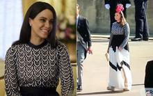 """3 khách mời cùng mặc một chiếc váy đến đám cưới Hoàng gia, và trùng hợp thay đó còn là váy mà """"bản sao"""" Meghan Markle từng mặc"""