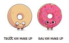 """Bộ tranh: """"Trước và sau khi"""" miêu tả cuộc sống của con người được lấy ý tưởng từ bánh donut, khối rubik... cực dễ thương"""