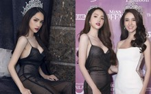 Hương Giang diện trang phục gợi cảm, đọ sắc cùng dàn mỹ nhân chuyển giới đình đám trên thảm đỏ sự kiện tại Thái Lan