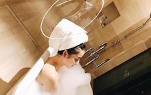 Để lộ người chụp ảnh gợi cảm trong phòng tắm cho mình là đàn ông, và đây là lời giải đáp của Huyền My