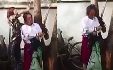 Người phụ nữ bị buộc tóc treo lên cây vì chủ cửa hàng nghi lấy trộm đồ