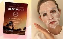 """Hóa ra có cả mặt nạ giấy làm nâu da và cô nàng này đã thử làm """"chuột bạch"""" xem chất lượng ra sao"""