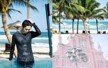 """Mỹ nam Wanna One chụp ảnh đón Tết ở Đà Nẵng đẹp như phim, nhưng fan chỉ """"dán mắt"""" vào cơ bụng của anh chàng"""
